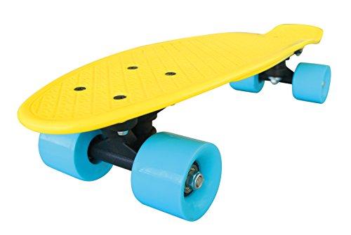Streetsurfing Skateboard New Fizz Board, Yellow/Blue, 500206