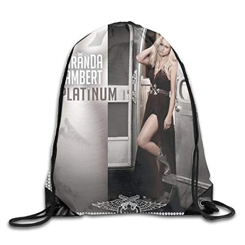 JHUIK Drawstring Bag Backpack,Miranda Lambert Platinum Fashion Sac à Dos Design épaule Cordon Sac Homme Femme Sacs Blanc Taille Unique