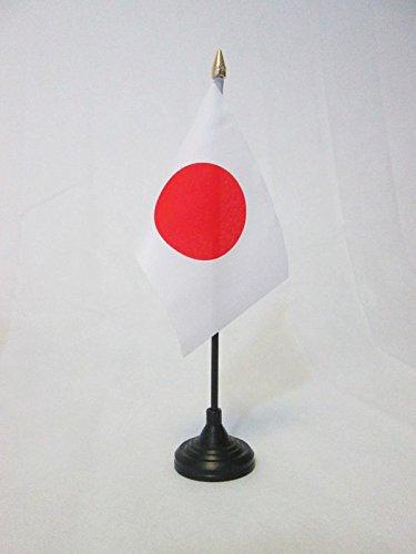AZ FLAG Bandera de Mesa de JAPÓN 15x10cm - BANDERINA de DESPACHO JAPONÉSA 10 x 15 cm Punta Dorada