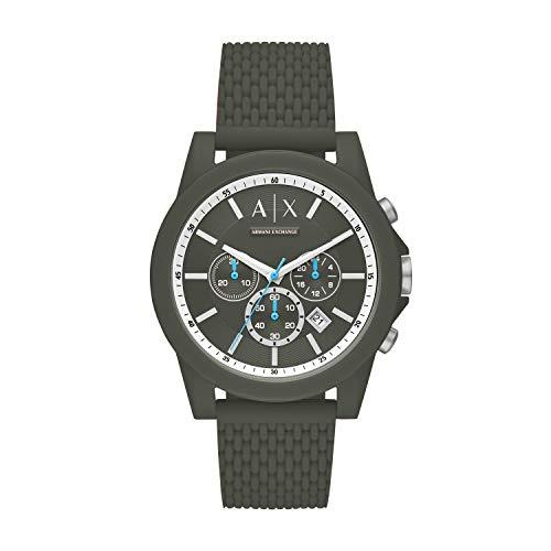 Armani Exchange Men's Analogue Quartz Watch with Silicone Strap AX1346