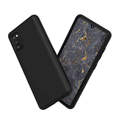 RhinoShield Case kompatibel mit [Samsung Galaxy A41]   SolidSuit - Schockabsorbierende Dünne Schutzhülle mit Premium Finish 3.5 Meter Fallschutz - Klassik Schwarz