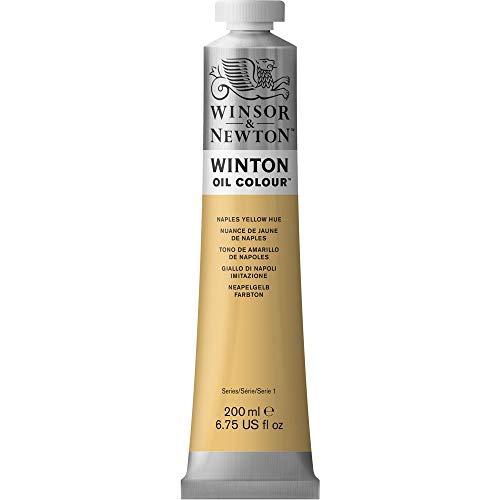 Winsor & Newton 1437422 Winton Oil Color Paint, 200-ml Tube, Naples Yellow Hue