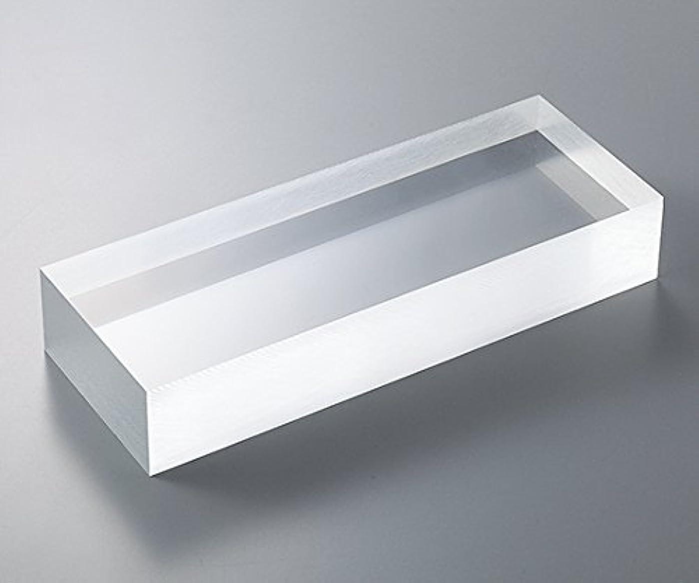 着飾る襟苦行3-6595-08アクリル板(透明厚板)100×100mm板厚80mm