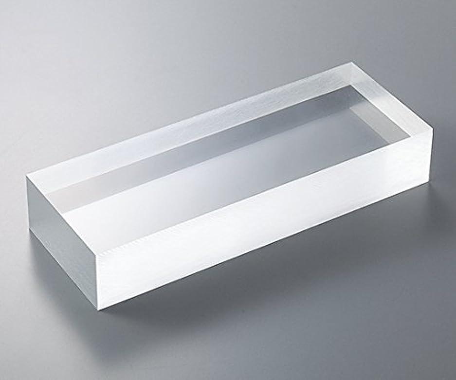 臨検レコーダー気難しい3-6596-04アクリル板(透明厚板)200×200mm板厚40mm