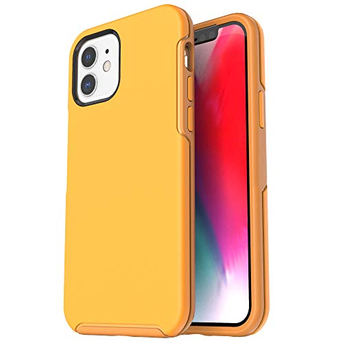 Krichit Ongoing Series Compatible with iPhone 12 Mini case (2020), Anti-Drop and Shock-Absorbing case Compatible with 5.4-inch iPhone 12 Mini case (Yellow)