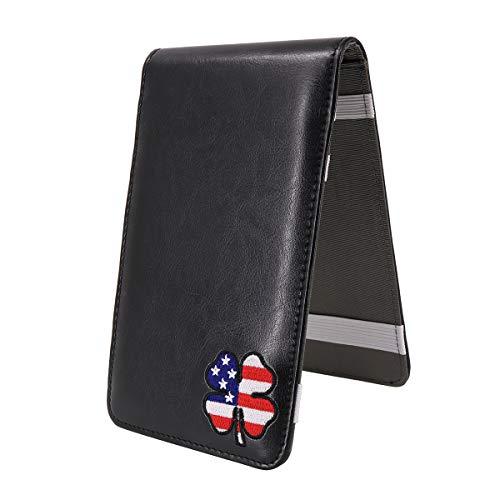 CRAFTSMAN GOLF USA Clover Leather Scorecard & Yardage Book Holder Cover