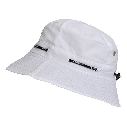 TOUTACOO, Sombrero para el Verano, Gorro para Hombre y Mujer, Ajustable Blanco