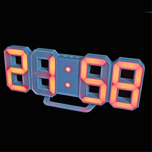 Relojes de Pared Reloj LED, Reloj de Pared Moderno Reloj de Mesa LED Digital Relojes Mecanismo de Reloj con Pantalla DE 24 o 12 Horas Reloj Despertador, 2#