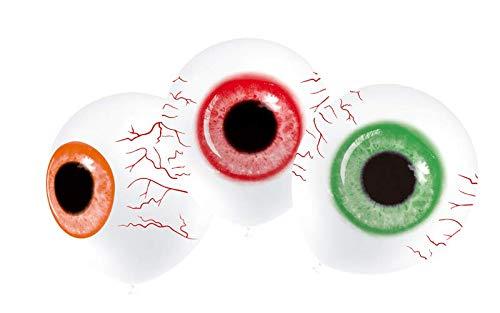 FRUTITOSCOM Globos de látex con decoración - Halloween - 8 Unidades (Ojos Zombies)