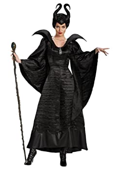 Disguise Women s Disney Maleficent Christening Gown Deluxe Costume Black 8-10