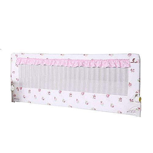 Rail de lit Clôture de lit Infantile Child Prévention des Chutes de lit Garde-Corps Lit 120cm Beige Bleu Rose (Couleur : Pink)