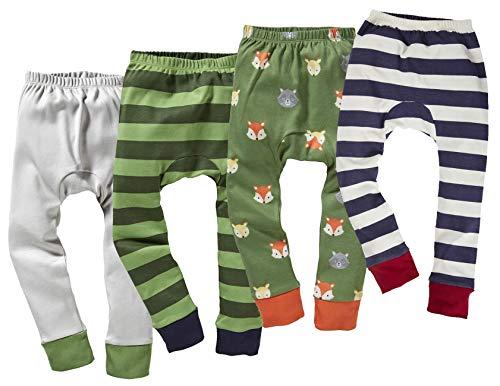 Bio Kinder Unterhose lang 100% Bio-Baumwolle (kbA) GOTS zertifiziert, Jungen 4er-Set, 122/128