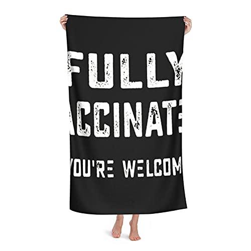 Toallas de playa totalmente vacunadas, You'Re Welcome para la piscina, toalla de baño, 32 x 52 para mujeres, niños, niñas, niños, adultos y hombres