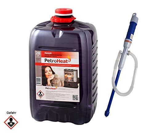 CAGO Petroleum Kanister, für eine saubere Verbrennung (20 Liter mit elektrischer Handpumpe)