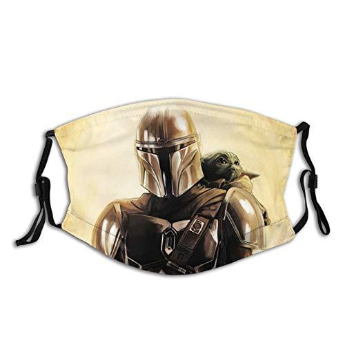 Baby Yoda Star Wars Gesichtsmaske, wiederverwendbar, aus Stoff, waschbar, Bandana Gesichtsmaske, Sonnenstaubschutz, Sturmhaube, Schal für Angeln, Radfahren