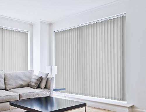 EB ESTORES BARATOS Cortina Lamas Verticales Translúcida Lumen/Gradúe la Entrada de luz. Medidas Ancho x Alto. Se la ajustamos a Medida. Color: Gris. Medidas: 50cm x 120cm