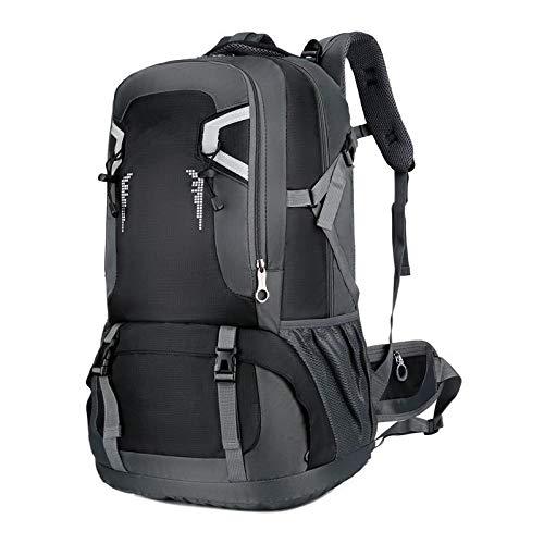 Backpack, Travel Bag Sports Bag Men's and Women's Universal Backpack 60L Black.