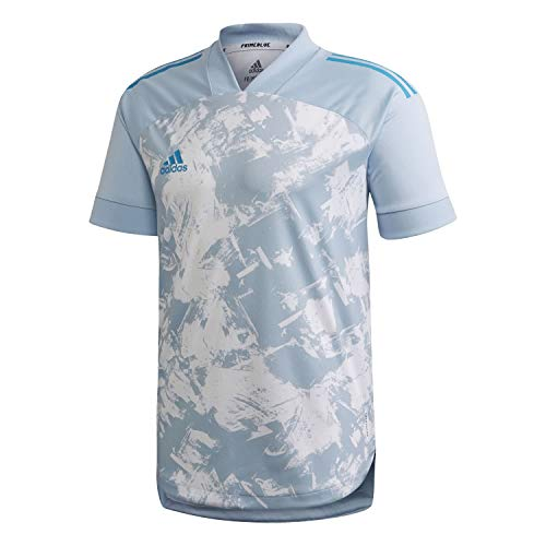 adidas Condivo 20 Primeblue Jersey Camiseta, Hombre, Easy Blue/White/Sharp Blue, M