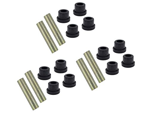 Front and Rear Leaf Bushing and Sleeve Kit Front Upper A Arm Suspension for Club Car DS Gas/Electric Golf Cart Set of 3