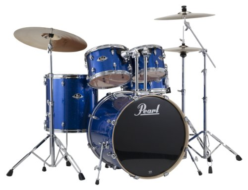 Pearl EXX725/C 5-Piece Export Standard Drum Set with Hardware - Electric Blue Sparkle (Cymbals Not Included)
