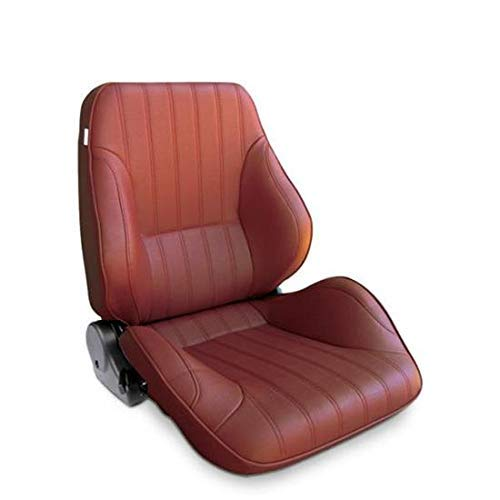 ProCar by Scat 80-1050-56R Maroon Vinyl Racing Rally Low Back Recliner Right Seat