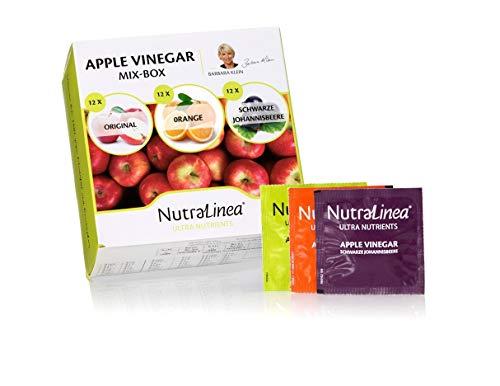 NutraLinea Apple Vinegar Mix | Erfrischungsgetränk in Form einer löslichen Tablette | 3 Geschmackssorten | Nur 9 kcal pro Portion