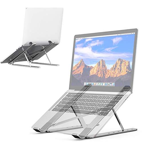 Soporte Ajustable para computadora portátil y netbooks, Base para Laptop Aluminio Plegable para MacBook Air, MacBook Pro,Chromebook,Samsung,Acer,HP,DELL y Otro computadora portátil Ordenador 9' y 17'