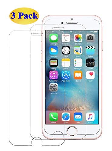Eachy iPhone 6/ iPhone 6S Cristal Templado [3 Unidades] Vidrio Templado iPhone 6/iPhone 6S Protector de Pantalla Sin Burbujas Resistente a Arañaozos 4.7 Pulgadas-0.25mm