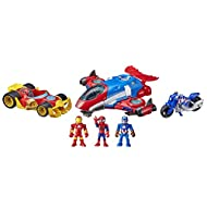 Marvel Super Hero Adventures Figure and Vehicle Multipack, 3 Action Figures and 3 Vehicles, 5-Inch T...