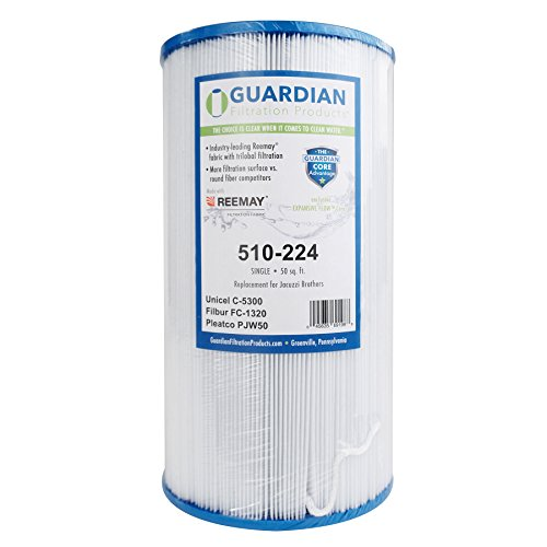 Guardian Filtration - Pool Spa Filter Replacement for Unicel C-5300 Filbur FC-1320 Filter Cartridge Compatible for Jacuzzi Front Load