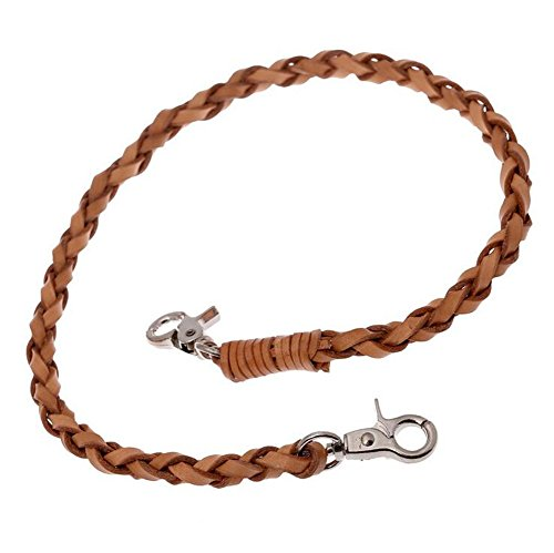 PAMTIER Hommes Cuir véritable Fait Main Bracelet Fort Clé Jeans Haleter Taille Chaîne