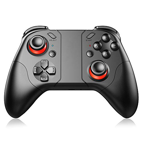 Kilcvt Bluetooth Wireless Game Controller, Gamepad Android Joystick PC Drahtloser Controller Remote VR Game Pad, FüR PC/Smartphone/Tablet TV-Boxhalter