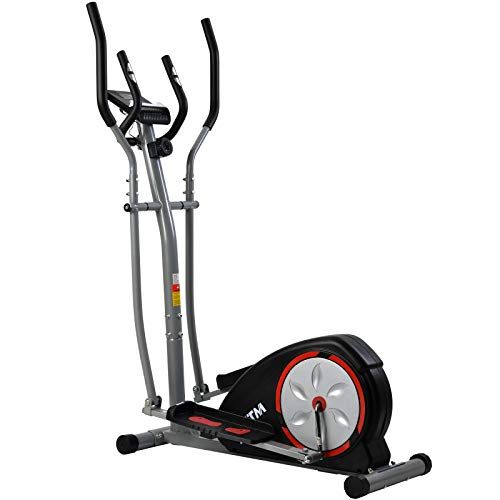 æ— VKTY Elliptical Cross Trainer-Cross Trainer Machine with LCD Monitor-8 Level Magnetic Resistance-Pulse Rate Grips-Magnetic Smooth Quiet Driven-Red