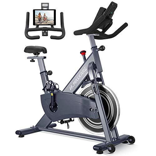 MaxKare Professional Magnetic Exercise Bike, Resistance Exercise Spin Bike, Belt Drive Stationary Bike with LCD Monitor, Fitness Bikes for Home