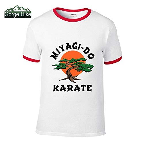 HANO 2019 Karate Kid Miyagi-Do Dragon Reseda Los Angeles Maglietta Uomo Bonsai Cobra Kai Fashion Casual Tee Kung Fu Master: Collision W-R, M