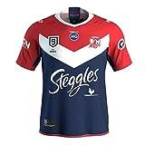 MGRH Jersey de Rugby, 2020 Australian Rooster 9s Rugby Camiseta de Rugby, Entrenamiento de Secado rápido de los Hombres Deporte Corto de Manga Corta Casual Polo Top XXXL