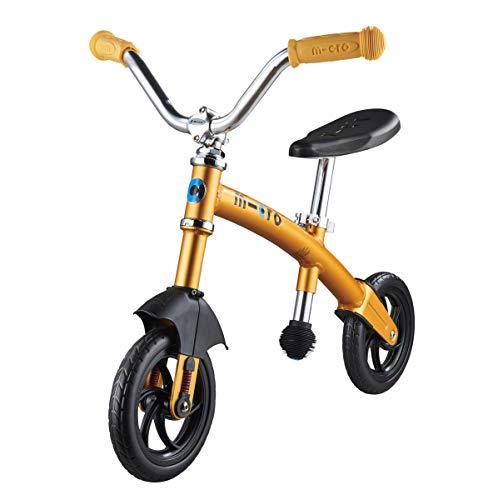 Micro g-Bike Chopper Deluxe Bicicleta de Paseo, Amarillo