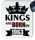 Tapis de souris d'ordinateur Kings are Born in 1963