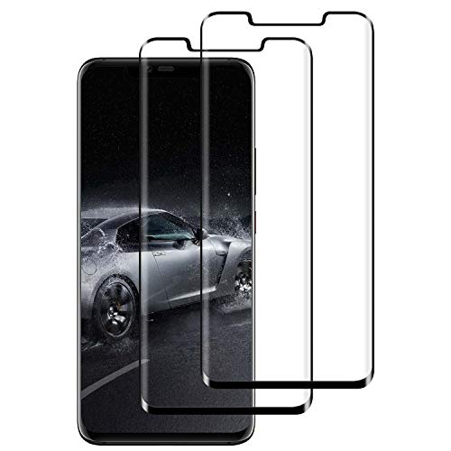 DASFOND Protector Pantalla para Huawei Mate 20 Pro, [2 Piezas] Cristal Templado Huawei Mate 20 Pro,[3D Cobertura Completa] [9H Dureza] [Sin Burbujas], HD Transparente Resistente Arañazos - Negro
