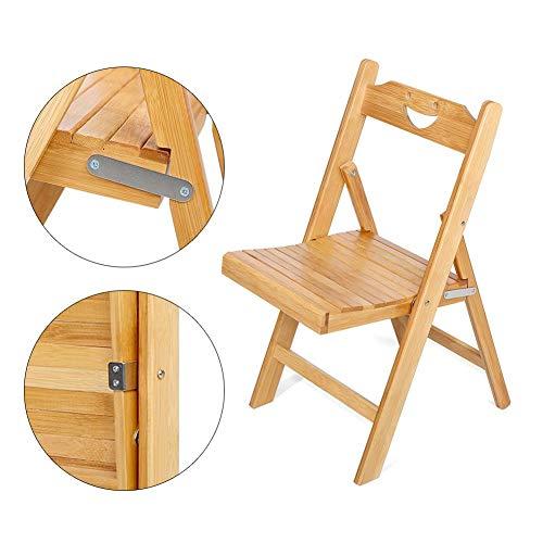 EBTOOLS-klapstoel van bamboe, houten stoel tuinstoel campingstoel, vouwstoel, vochtbestendig en schimmelbestendig