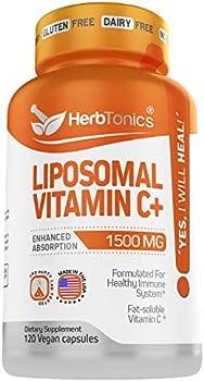 Herbtonics High Strength Liposomal Vitamin C Capsules 1500mg