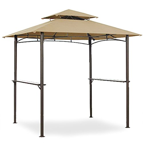 Garden Winds Replacement Canopy for Mainstays Grill Shelter Gazebo - Standard 350 - Beige