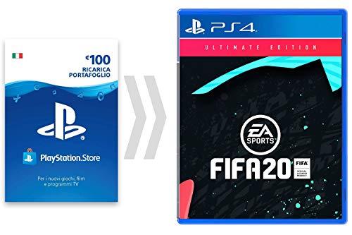 100€ PSN Card Credito per FIFA 20 - Ultimate Edition [Codice download per PSN - Account italiano] - Ultimate Edition Edition | Codice download PS4 - Account italiano, 3 anni +