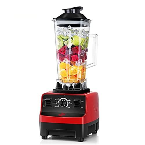 JIEYUEBAI Mezclador de licuadora de Alta Potencia, licuadora Comercial Pesada, exprimidor sin BPA, Smoothie Barkshake Bar Fruit Procesador de Alimentos 1000w (Color : Red, Size : 1)