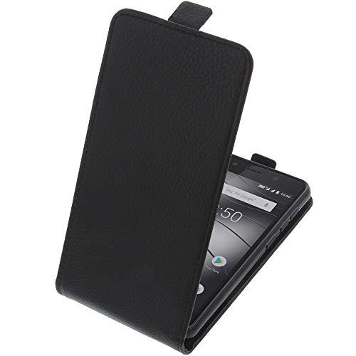 foto-kontor Tasche für Gigaset GS180 Smartphone Flipstyle Schutz Hülle schwarz