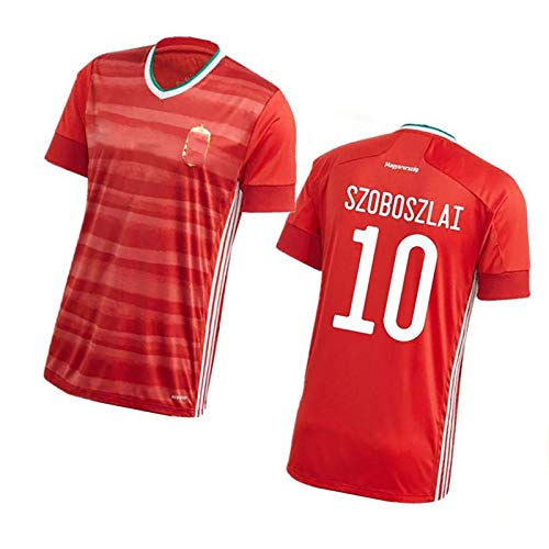 CWWAP Erwachsene Männer Ungarn Football Uniform T-Shirt # 10 Szoboszlai Fussball Jersey, Polyester Football Jersey, Team Club Training Shirt NO.10-S