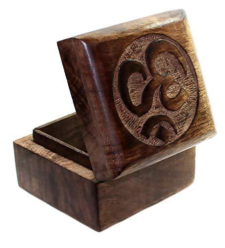 budawi OM Holz Schatulle orientalisches Schmückkästen Box, Schmuckschatulle, OM Schmuckschachte,