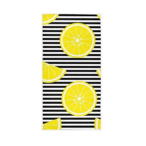 UMIRIKO Toalla de mano a rayas de limón de secado rápido, toalla de cara altamente absorbente para baño 30 x 15 pulgadas 2020302