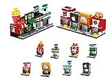 Modbrix 8 STK City Bausteine Häuser Einkaufsstraße Ladenzeile, 649 teiliges Konstruktionsspielzeug
