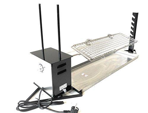 ALLEGRI Asador rotatorio Profesional electrico con regulador de velocidad , incluye pincho con parrilla incorporada y bandeja inox